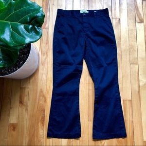 Frame le crop mini boot chino flare pants navy